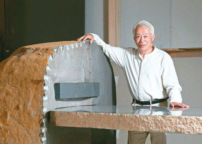 日本石雕家和泉正敏的作品,在「聯合大於」、「聯合大哲」裡都能看見。 圖/本報系資...