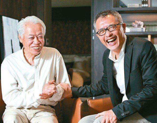 日本石雕家和泉正敏(左)與設計師陳瑞憲。 圖/本報系資料庫