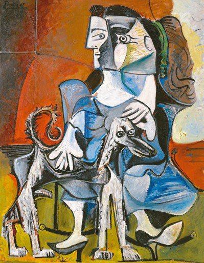 畢卡索1962年《女人與狗》在紐約蘇富比以約5500萬美金成交。 圖/蘇富比、羅...