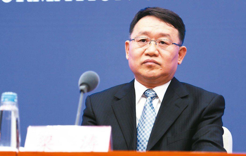 中國銀保監會副主席梁濤 中新社