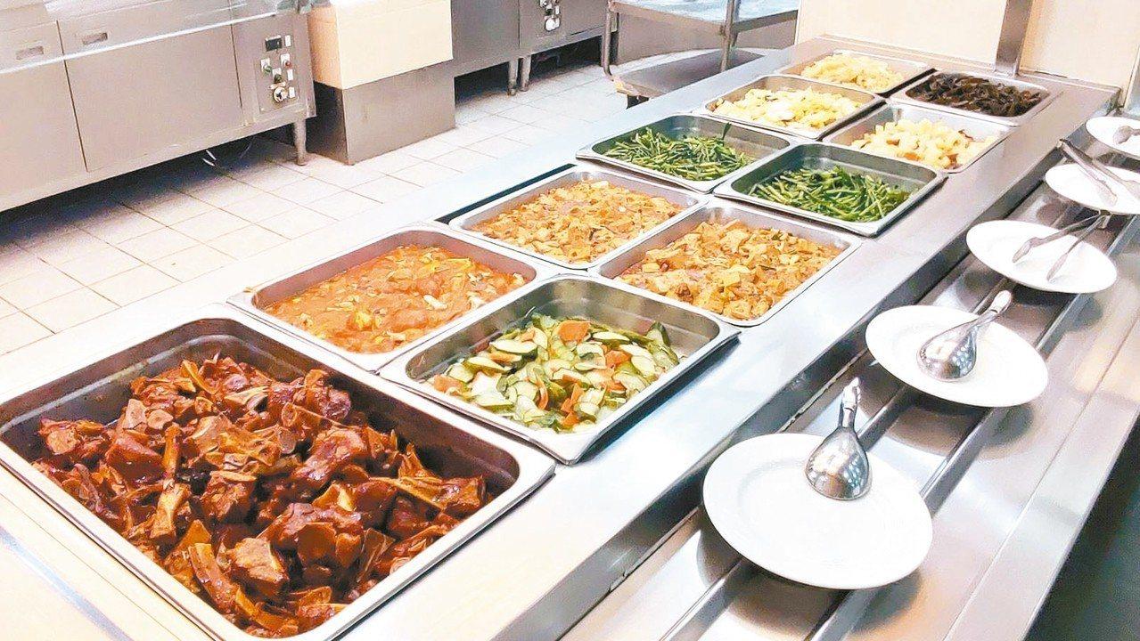 圖為中鋼員工餐廳菜色。 圖/中鋼提供