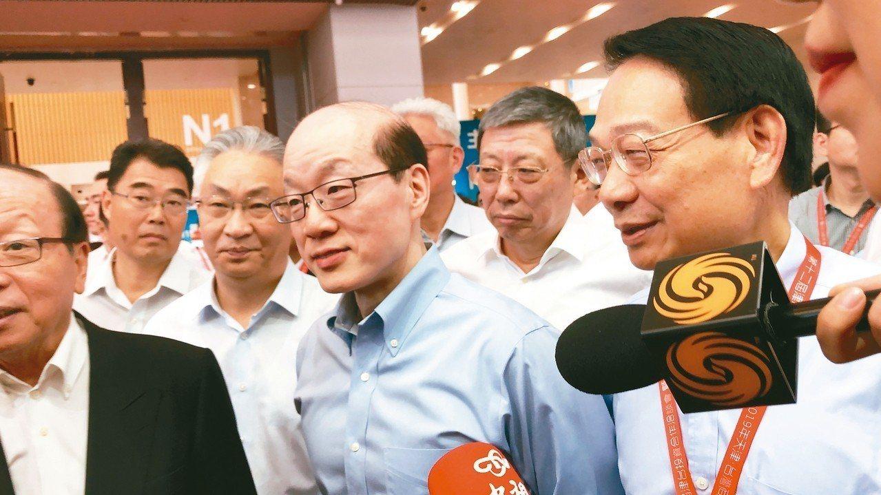 圖為國台辦主任劉結一昨日回應媒體。 特派記者許依晨/攝影