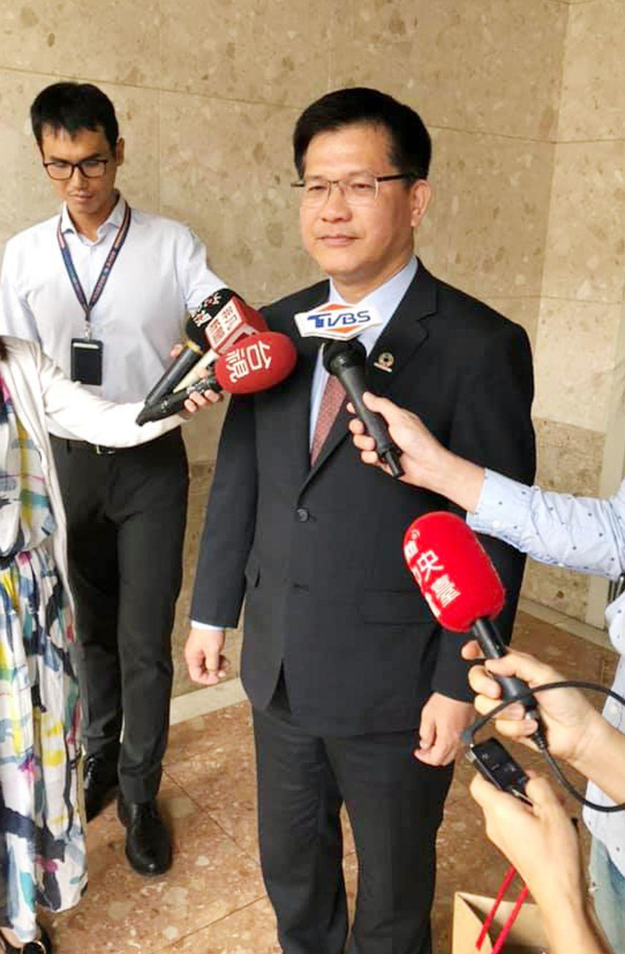 交通部長林佳龍。中央社