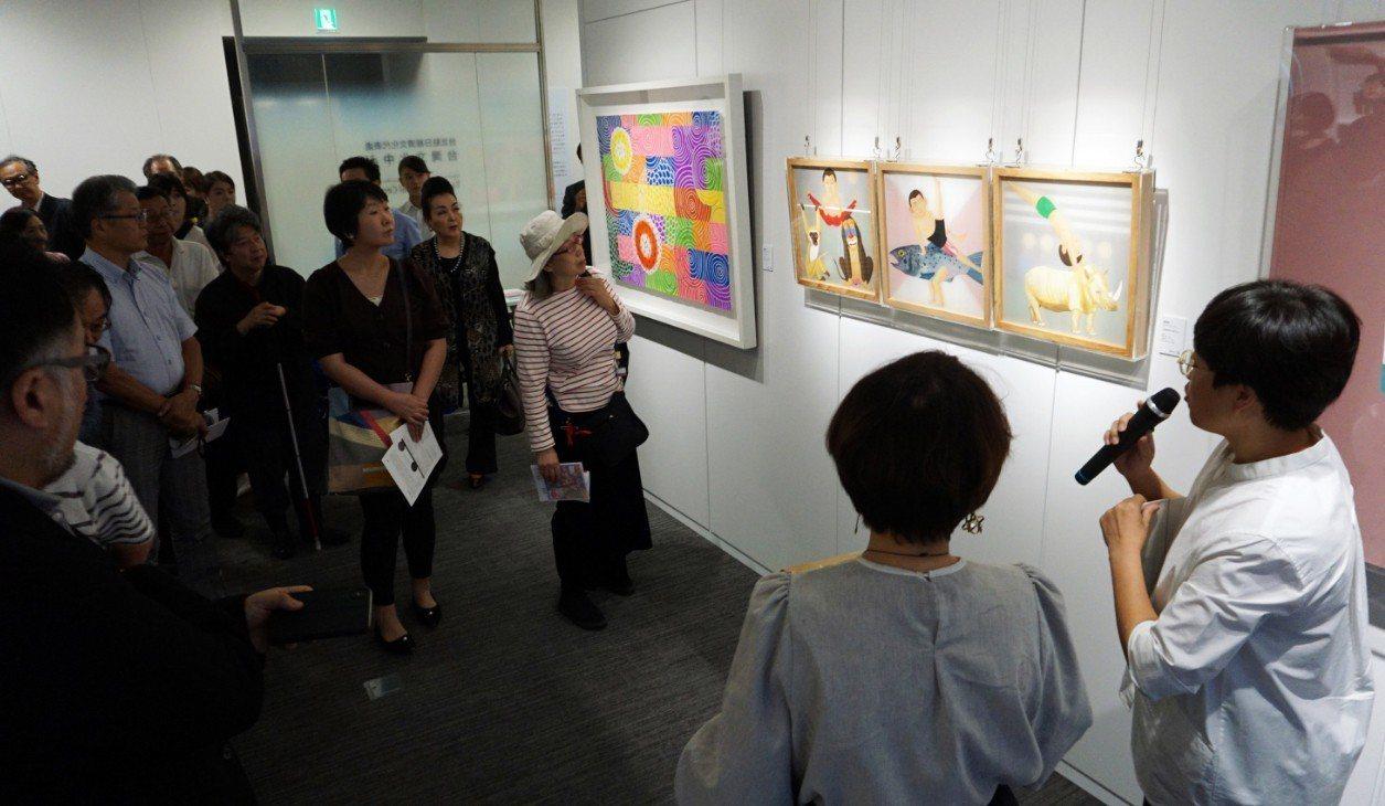 台灣美術館藝術銀行策劃的「淬.煉-台灣當代藝術展」5日在東京登場,內容是以迎接2...