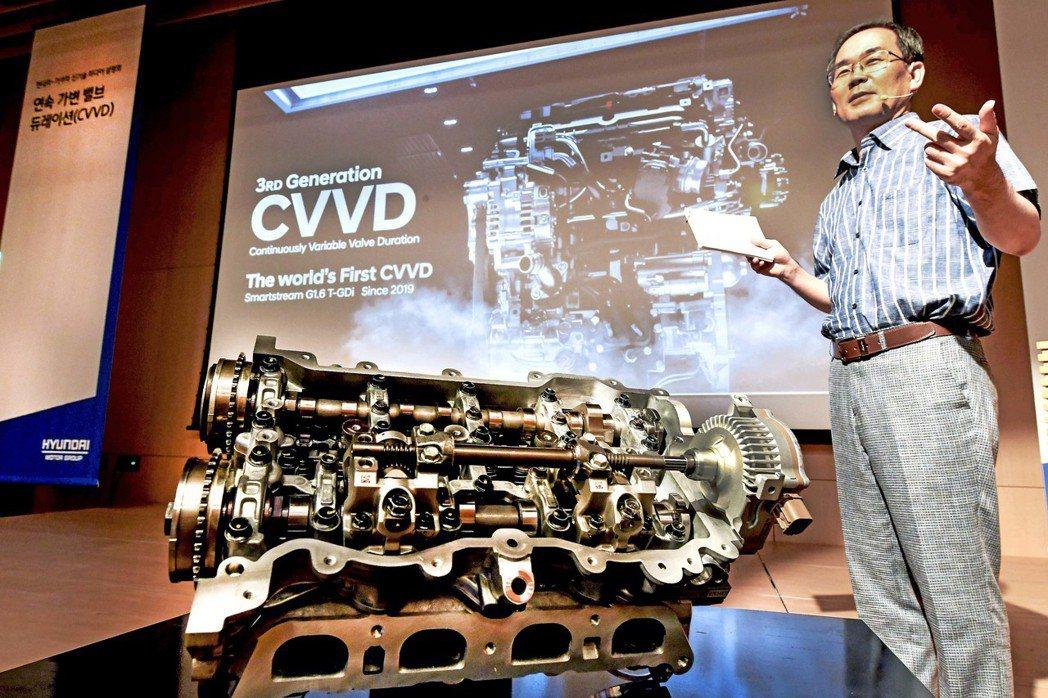 Hyundai開發的CVVD技術可以依照駕駛情況來控制閥門開啟或是關閉所持續的時...