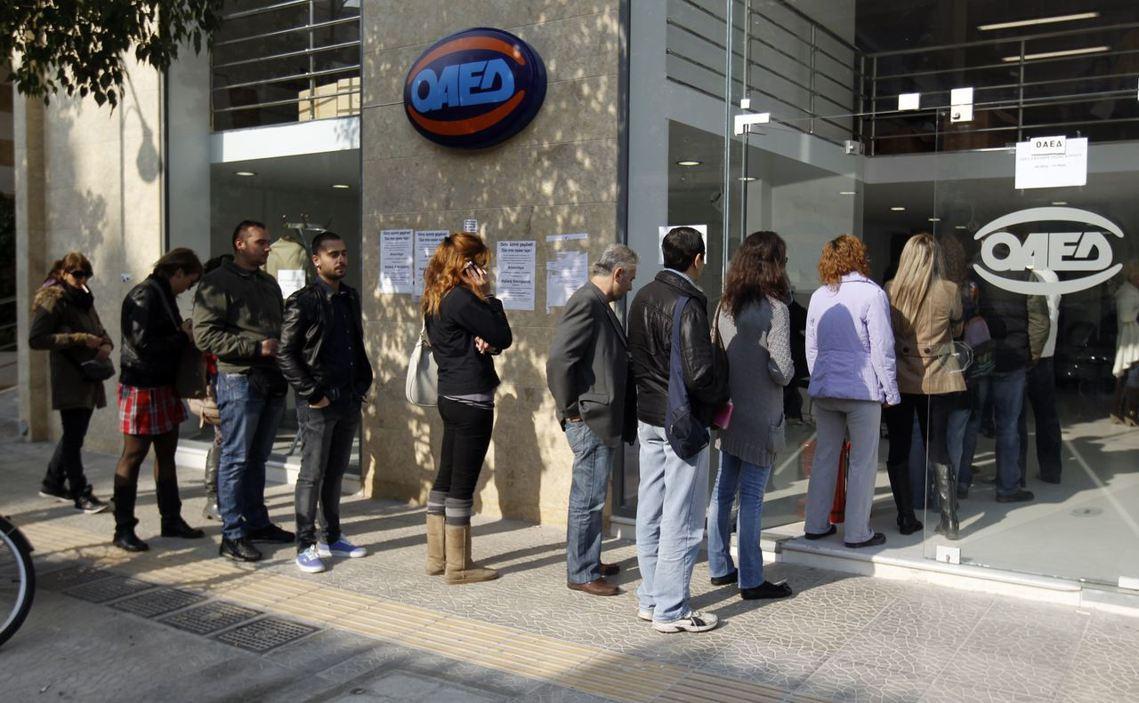 自2010年起為期八年的紓困撙節,讓希臘經濟大衰退同時失業率不斷飆高。圖為雅典失...