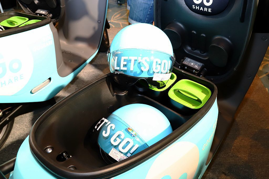 GoShare車廂內將放置可免費使用的安全帽,全年無休24小時不間斷服務。 記者...