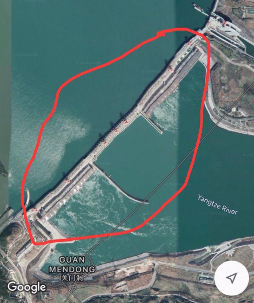 網傳的三峽大壩變形照片。圖:環球時報