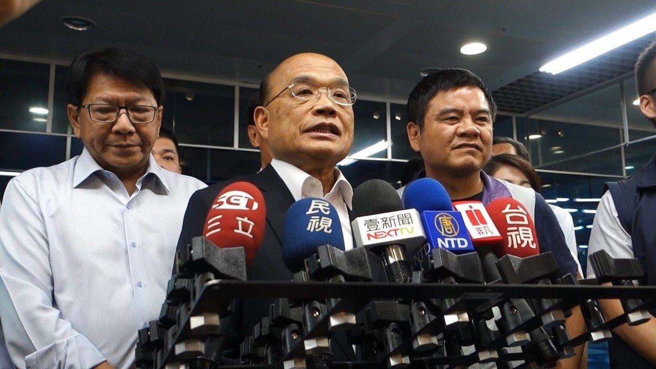行政院長蘇貞昌今再批韓國瑜沒有鎮守地方,蘇說「捐款的熱心,我們表示肯定,但還是對...