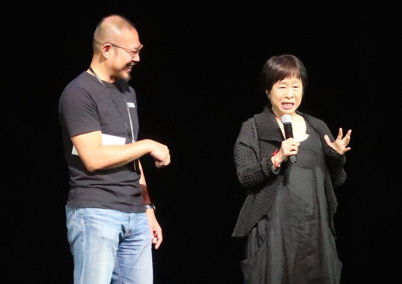 《新娘妝》以作家李昂(右)的小說《彩妝血祭》為創作靈感。記者徐如宜/攝影