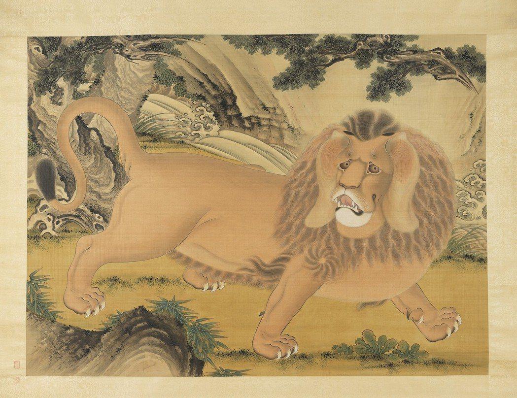 清代畫家劉九德的「畫狻猊」,「狻猊」就是古代的獅子。 圖/故宮提供