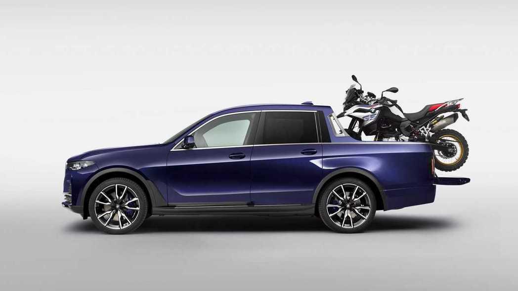 變成五人座的BMW X7 Pickup,身形看來很「苗條」。 摘自BMW