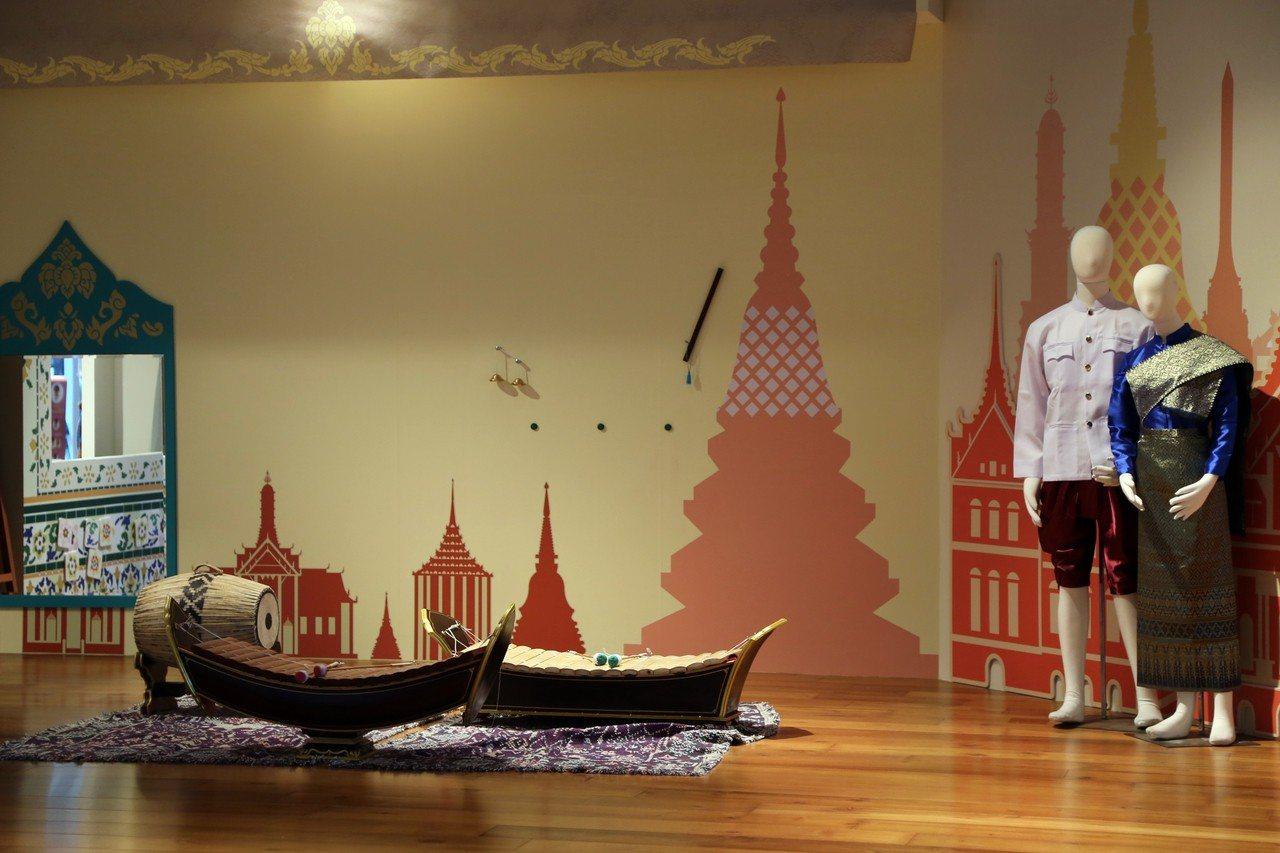 嘉義縣故宮南院將兒童創意中心變身「泰國傳統樂舞」主題亮相。記者魯永明/攝影