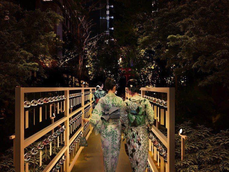 「森之風鈴小徑」今年首度舉行夜間點燈活動。圖/主辦單位提供