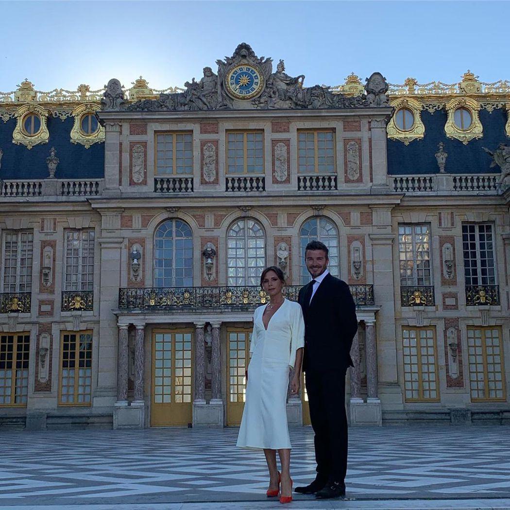 貝克漢夫婦砸下台幣近10萬包場遊覽凡爾賽宮歡度結婚20周年。圖/摘自Instag...
