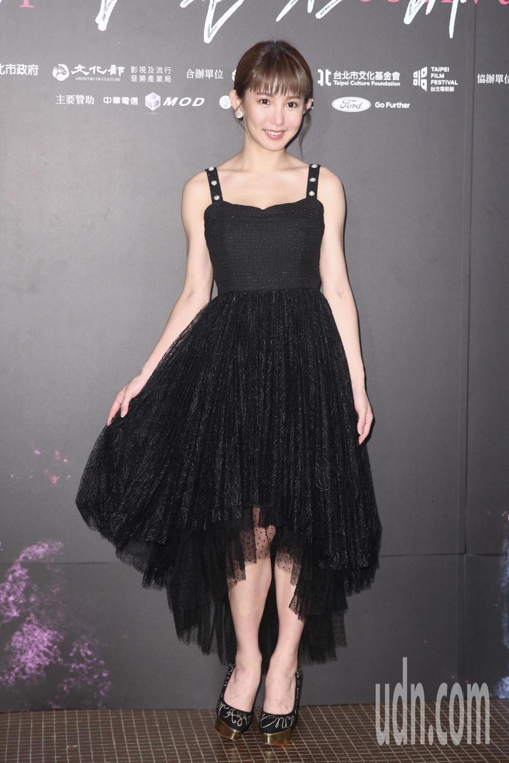 郭書瑤出席「傻傻愛你,傻傻愛我」台北電影節首映典禮。記者林伯東攝