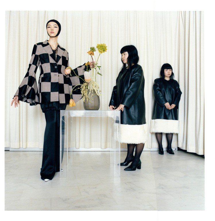 孫菲菲身穿秋冬系列重點款式亮相,攝影師Fumiko Imano及她自己的虛擬分身...