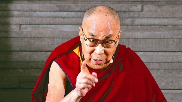 藏人精神領袖達賴喇嘛。 美聯社