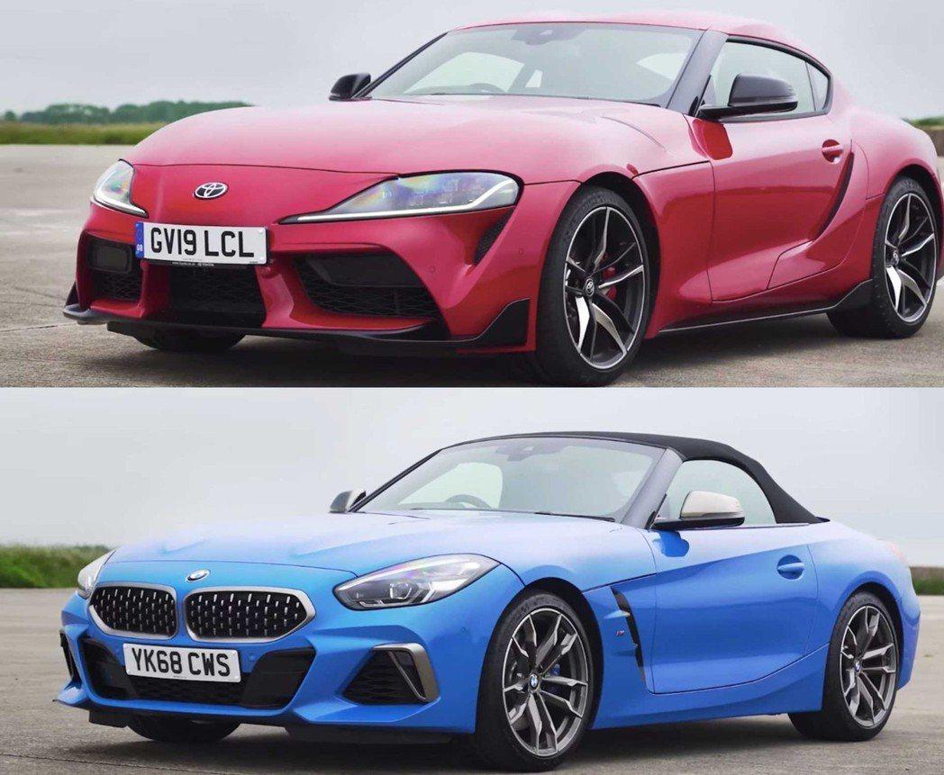 Toyota GR Supra vs. BMW Z4 M40i。 摘自carwo...