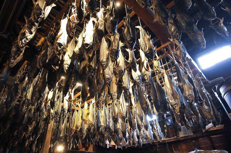 千年鮭きっかわ每年生產約1.1萬~1.2萬隻鮭魚,通通都是手工製作。記者陳睿中/...
