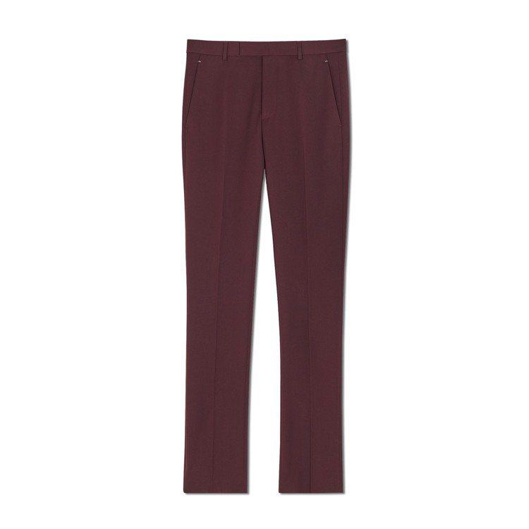 Berluti羊毛酒紅色西裝褲,34,500元。圖/Berluti提供