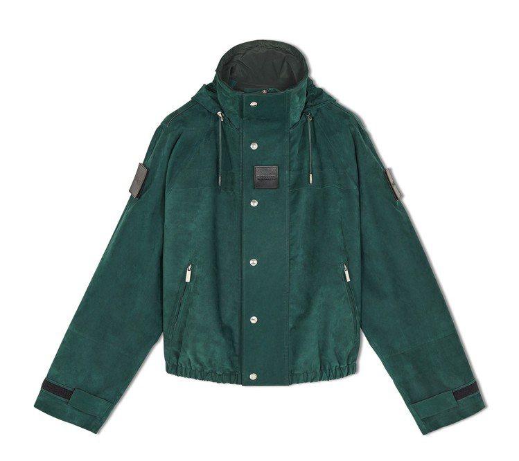 Berluti小牛皮綠色夾克,26萬元。圖/Berluti提供