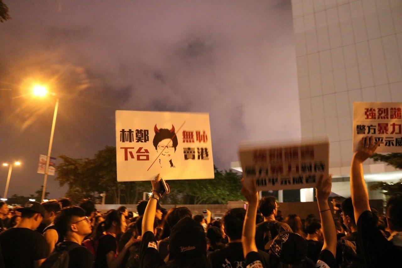 反送中運動不只是港人對中國政府投下不信任票,也對特首林鄭月娥投下不信任票。記者陳...