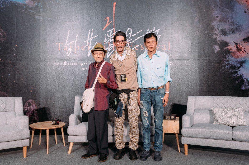 左起小戽斗、車保羅、喜翔參加北影舉辦的影帝焦點對談。圖/台北電影節提供