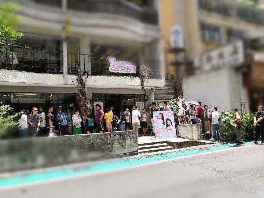 林志玲公益活動人潮多。圖/摘自臉書