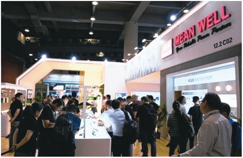 明緯企業在「第24屆廣州國際照明展覽會」,鋒芒畢露。 明緯/提供