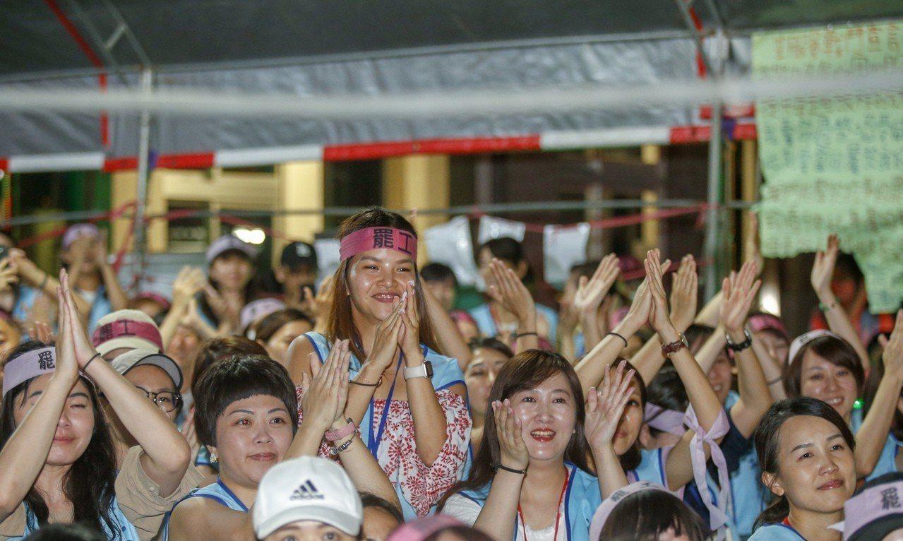 長榮航空服員罷工落幕。 記者鄭超文/攝影