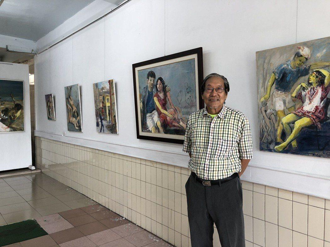 洪國輝的「台灣愛情油畫」個展,讓人看得臉紅心跳。左邊Art.p畫廊 提供