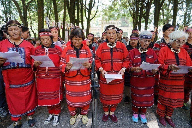 2015年10月,霧社事件85周年的追思活動。 圖/聯合報系資料照