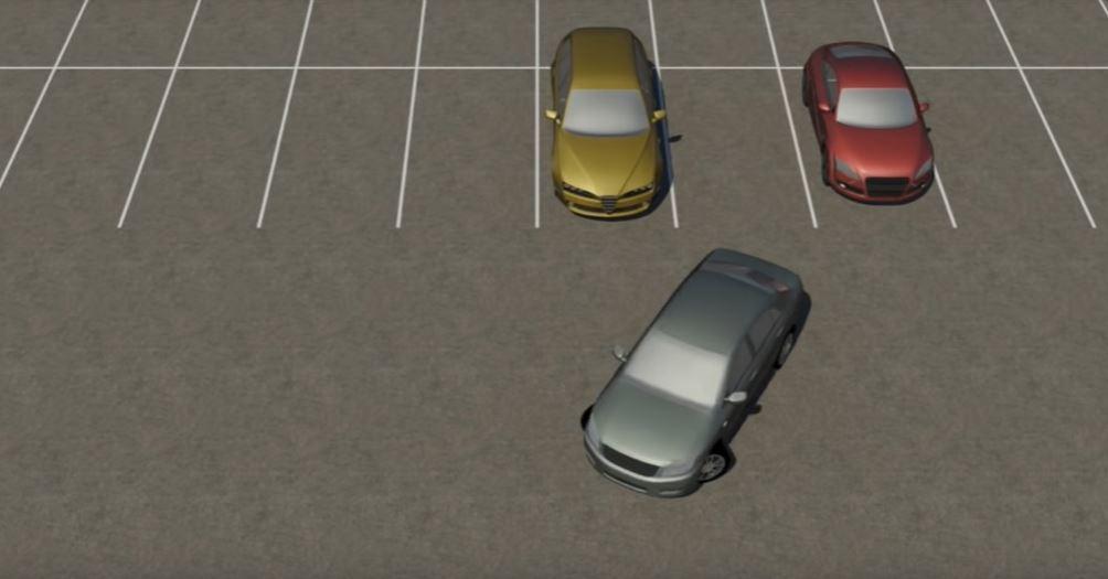 倒車入庫。 摘自Youtube:Parking Tutorial