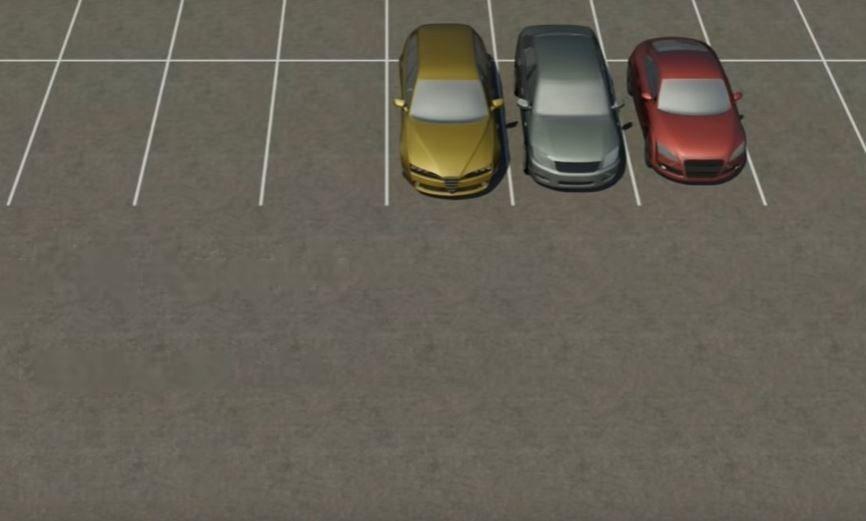 通常並排停車格都是採倒車入庫的停車方式。 摘自Youtube:Parking T...