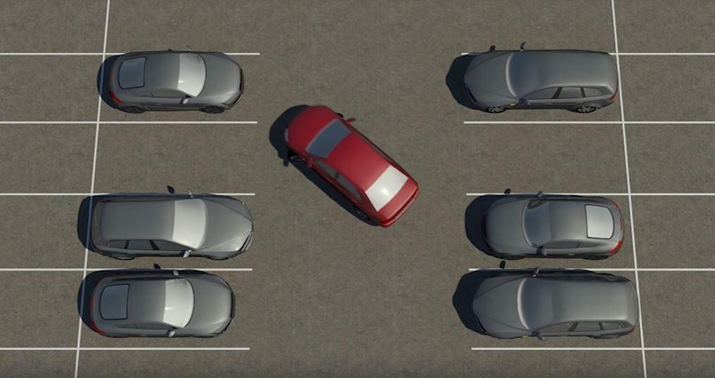 若是採車頭先進的停車方式,需要的角度就會加大。 摘自Youtube:Parkin...
