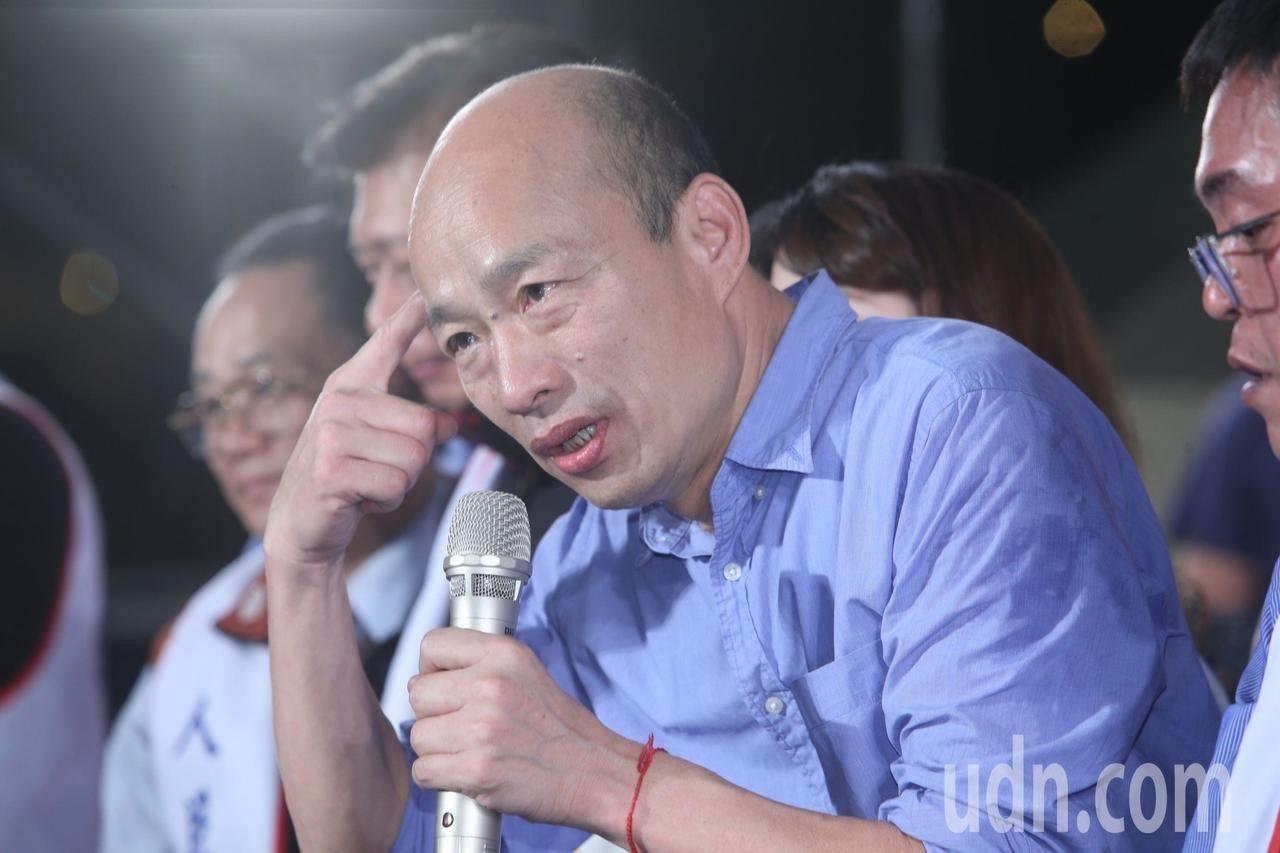 職業軍人出身的國民黨總統初選參選人、高雄市長韓國瑜。圖/本報資料照片