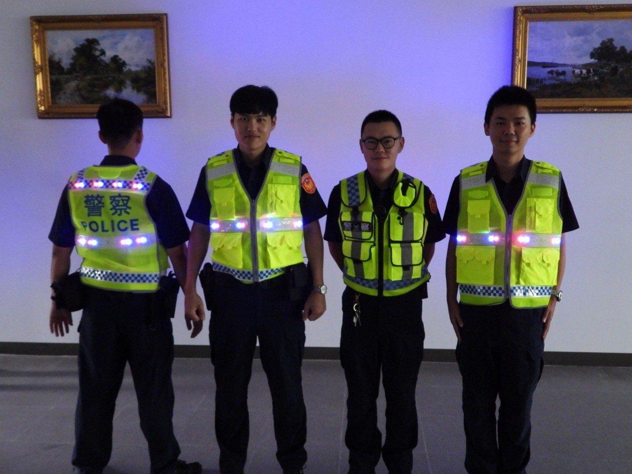 影/獅子會捐LED發光式反光背心 提升員警執勤安全