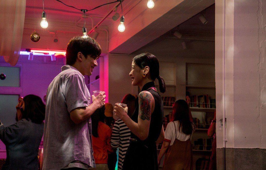 林哲熹(左)擔任桃園電影節代言人預告追翁嘉薇。圖/桃園電影節提供