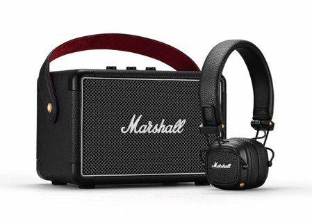 Marshall Kilburn II藍芽喇叭+Major III藍芽耳罩組,原...