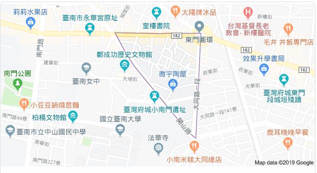 林俊憲說,開山里周圍有許多古蹟、博物館,完全跟開山刀無關。 圖/擷取自Googl...
