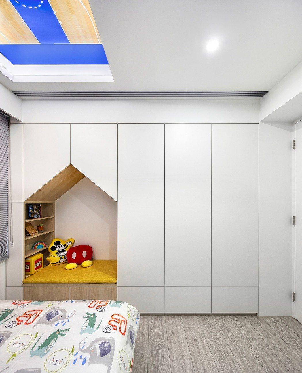 嚴立婷選用歐德傢俱打造兒童房,最感驕傲的,房間竟出現如童話般的小木屋。歐德傢俱/...