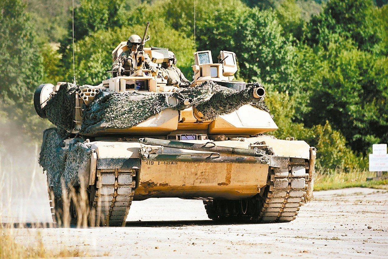 M1A2戰車。 圖/翻攝自美國國防部網站