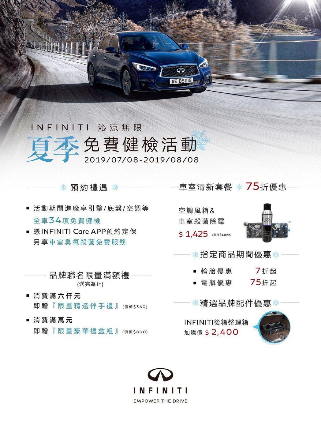 INFINITI TAIWAN將自2019年7月8日起至8月8日止,展開 INF...