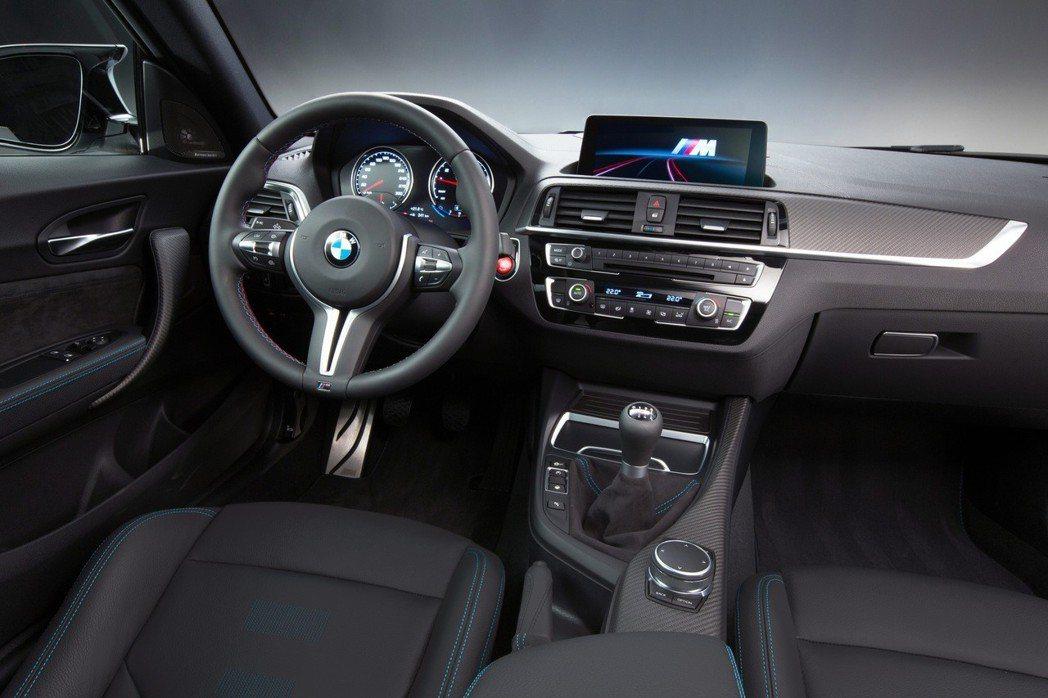 BMW M2 Competition手排版,M專屬競技化座艙。 圖/汎德提供
