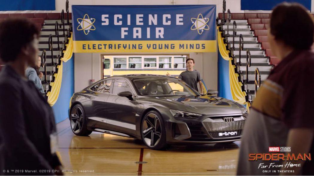 蜘蛛人Peter Parker把Audi e-tron GT Concept當作...