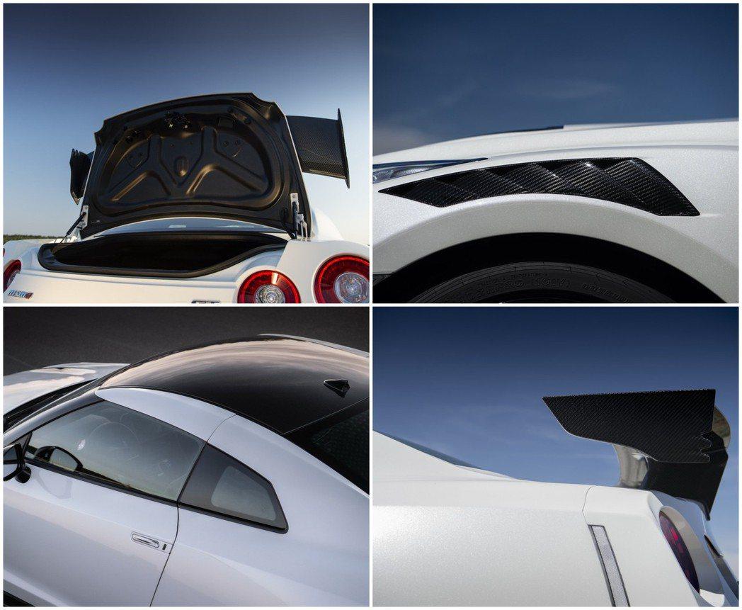 新年式GT-R NISMO採用了大量輕量化碳纖維部件。 摘自Nissan