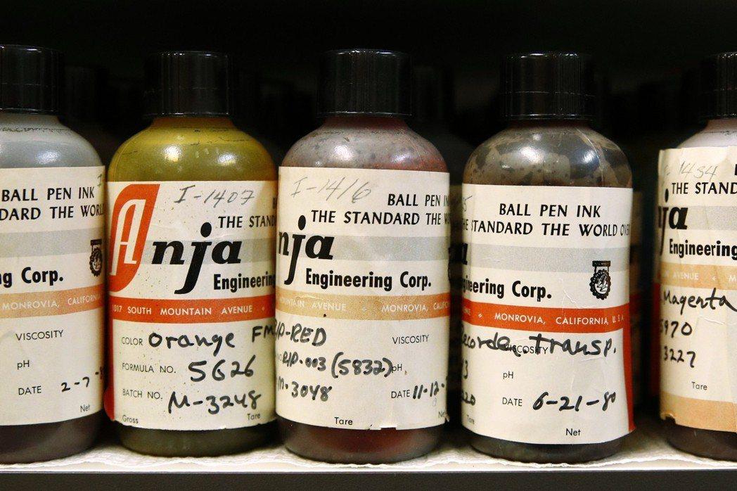 肯圖收集的墨水樣本。 (美聯社)