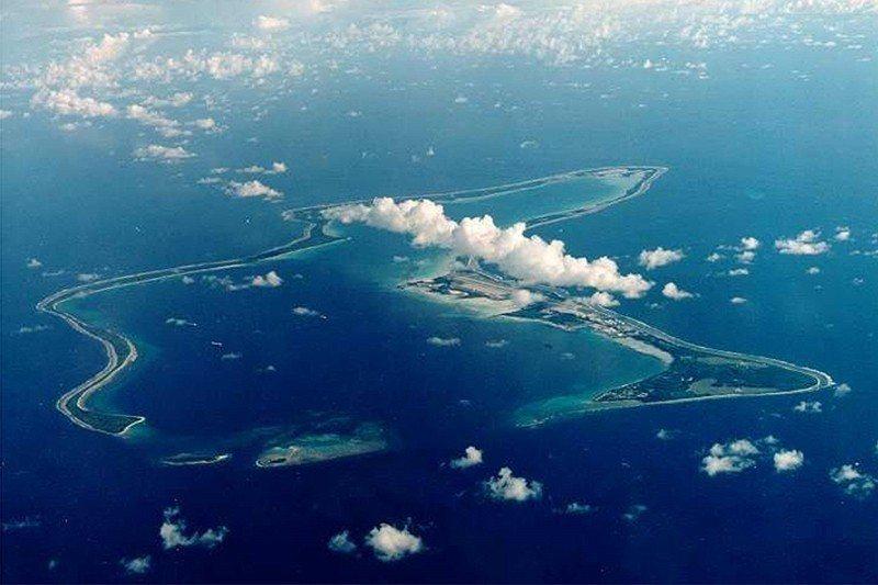 查戈斯群島最大的島——迪亞哥加西亞島(Diego Garcia)。 圖/路透社
