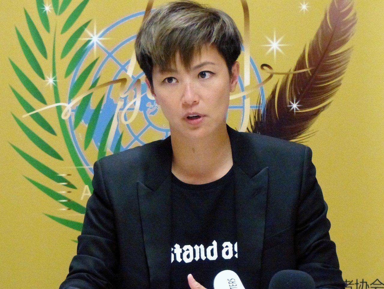 香港藝人何韻詩8日在聯合國人權理事會對「反送中」事件發言。美聯社